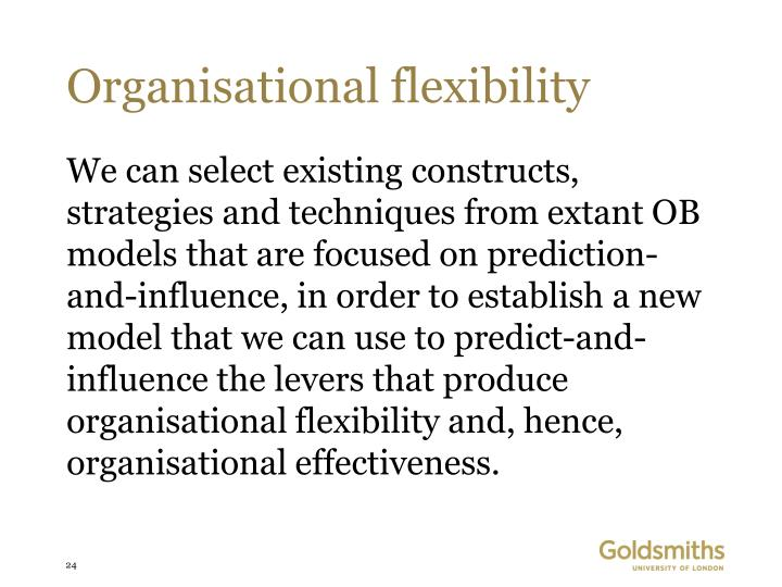 Organisational flexibility