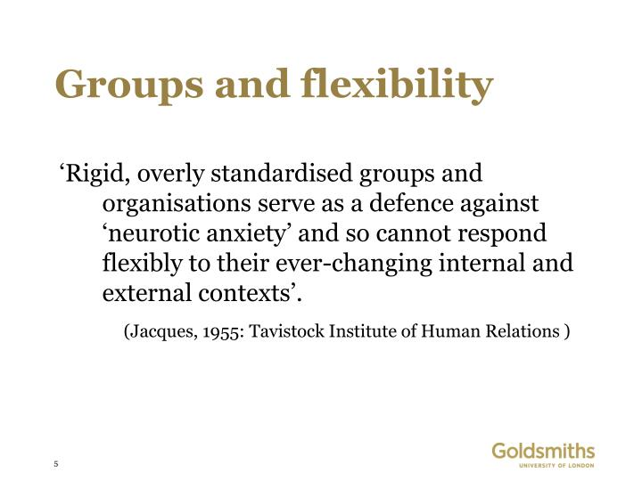 Groups and flexibility