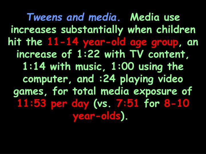 Tweens and media.