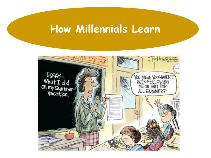 How Millennials