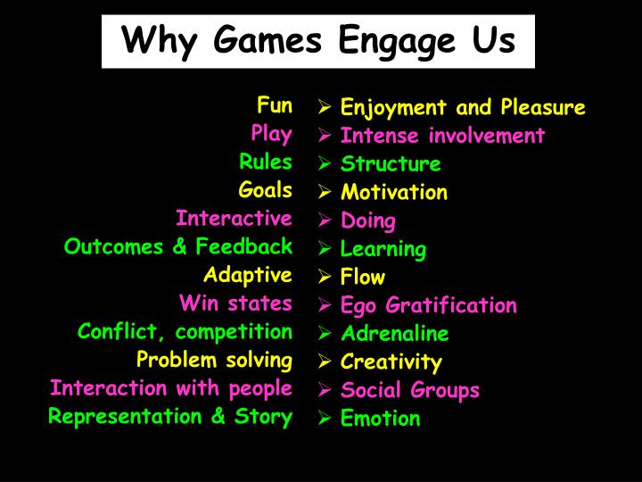 Why Games Engage Us