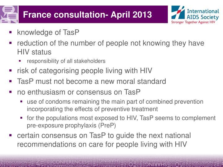 France consultation- April 2013