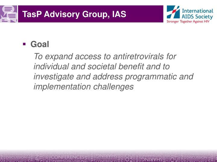 Tasp advisory group ias