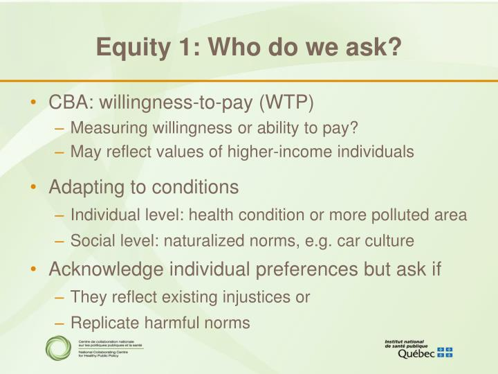 Equity 1: Who do we ask?