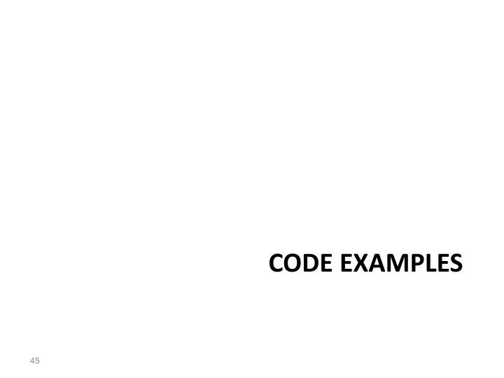 CODE examples