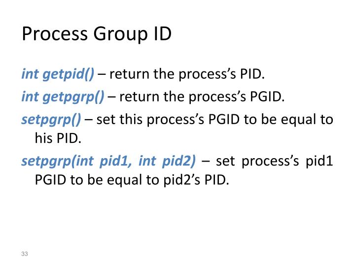 Process Group ID