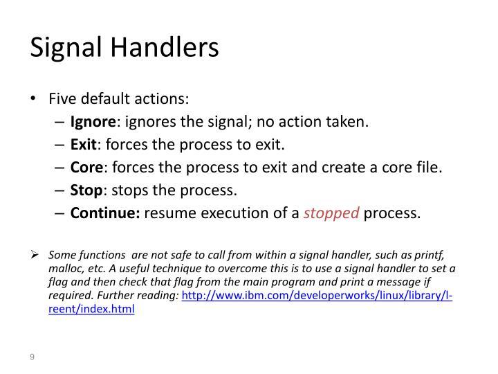 Signal Handlers