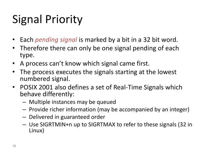Signal Priority