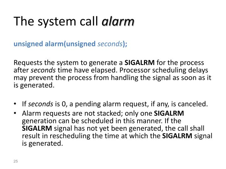 The system call