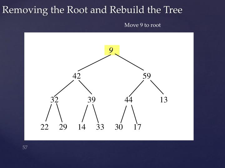 Move 9 to root