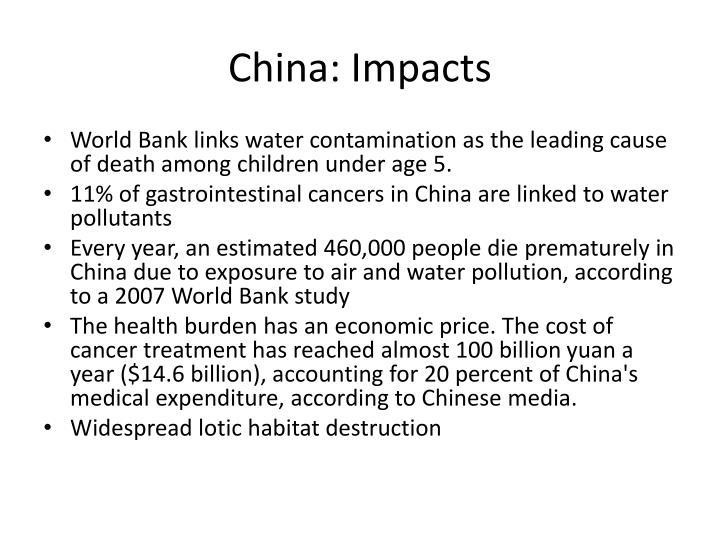 China: Impacts