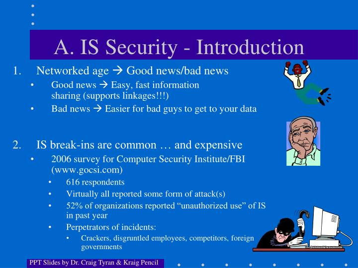 A. IS Security - Introduction