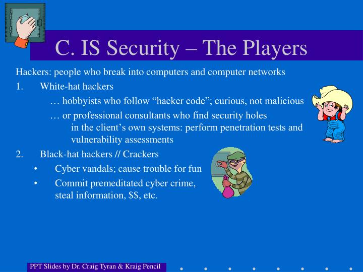 C. IS Security – The Players