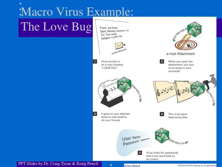 Macro Virus Example: