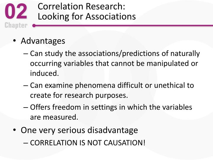 Correlation Research: