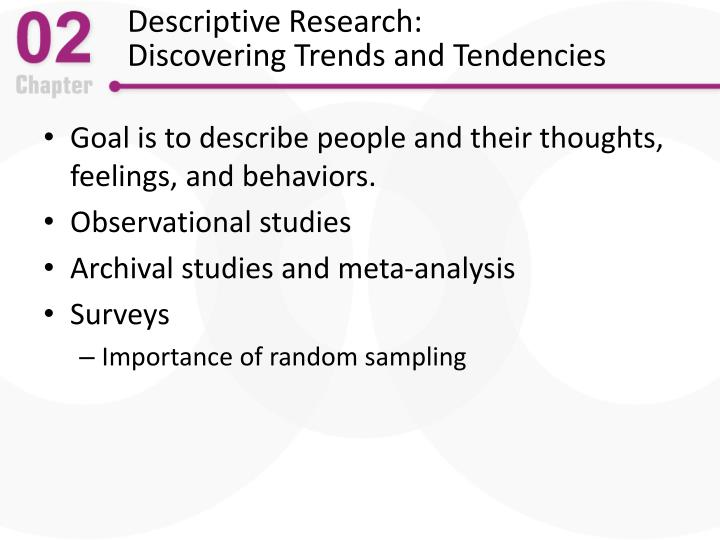 Descriptive Research: