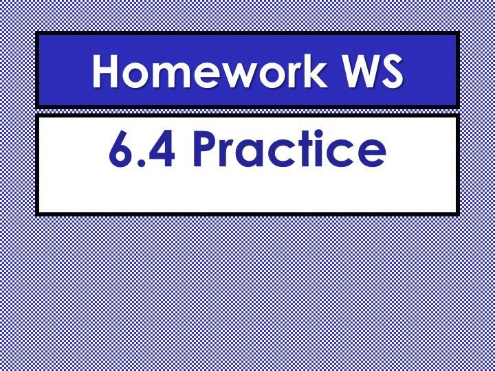 Homework WS