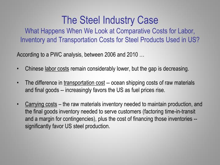 The Steel Industry Case