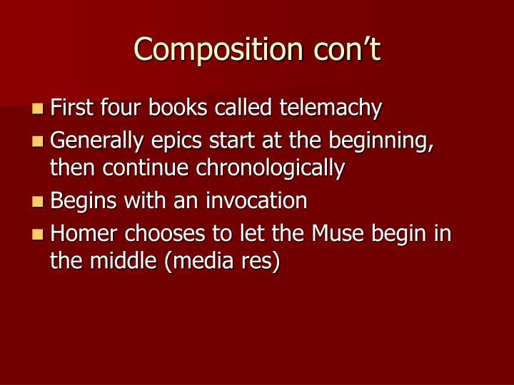 Composition con't