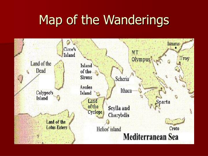 Map of the Wanderings
