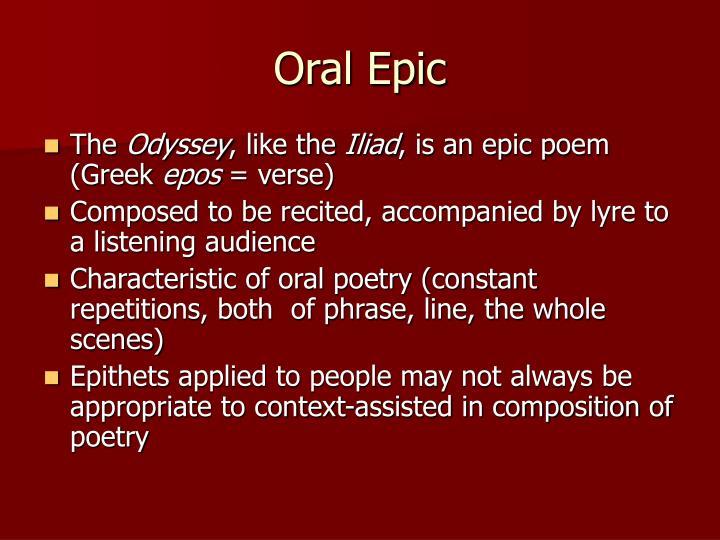 Oral Epic
