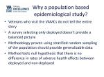 why a population based epidemiological study