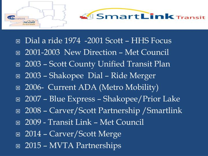 Dial a ride 1974  -2001 Scott – HHS Focus