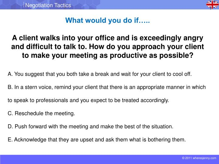 What would you do if…..