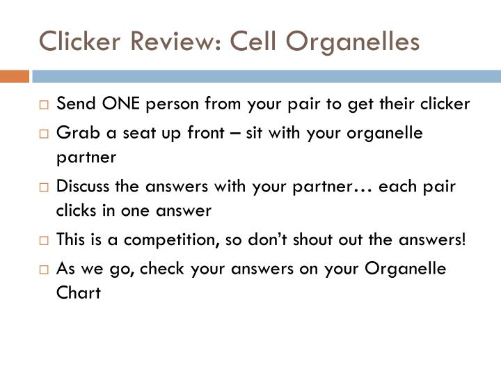 Clicker Review: Cell Organelles