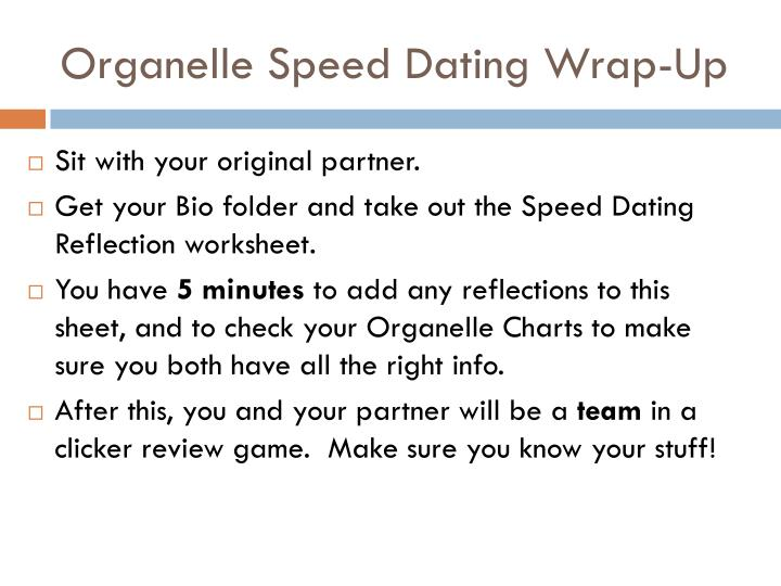 Organelle Speed Dating Wrap-Up
