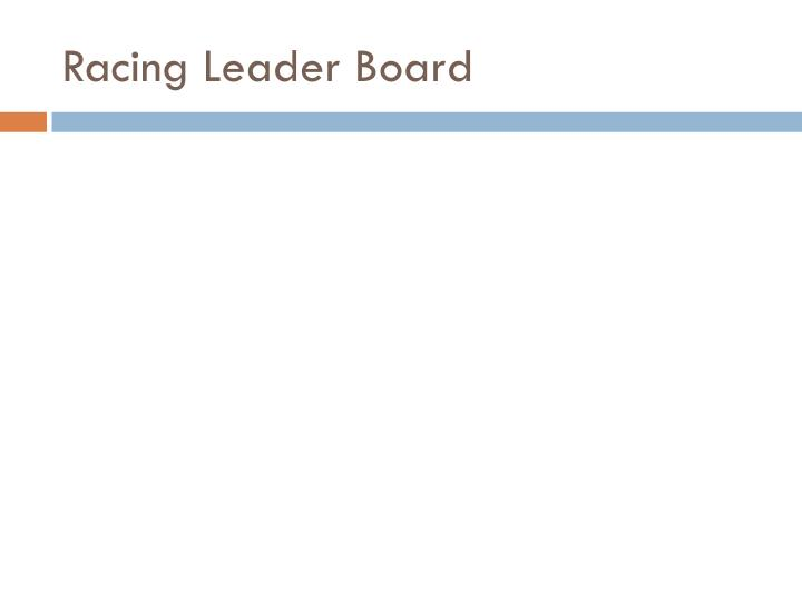 Racing Leader Board