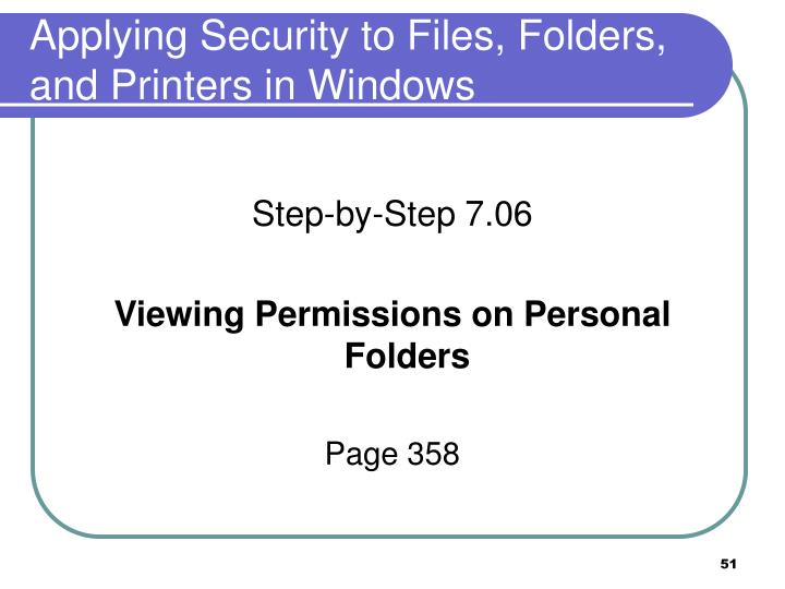Applying Security to Files, Folders,