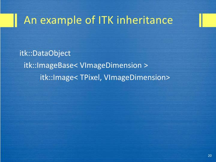 An example of ITK inheritance