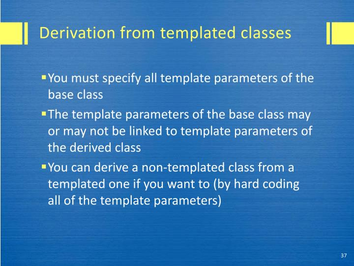 Derivation from
