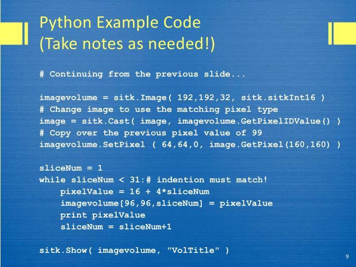 Python Example Code