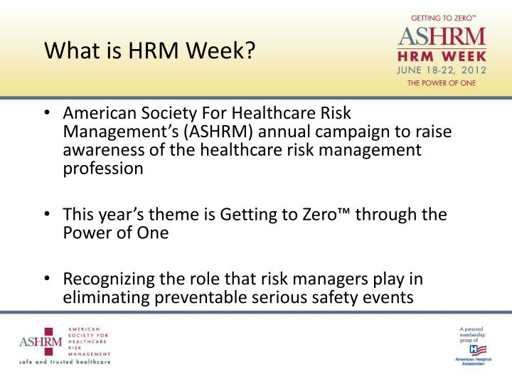 What is HRM Week?