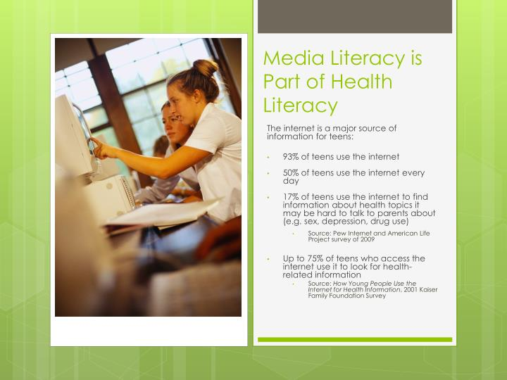 Media Literacy is Part of Health Literacy