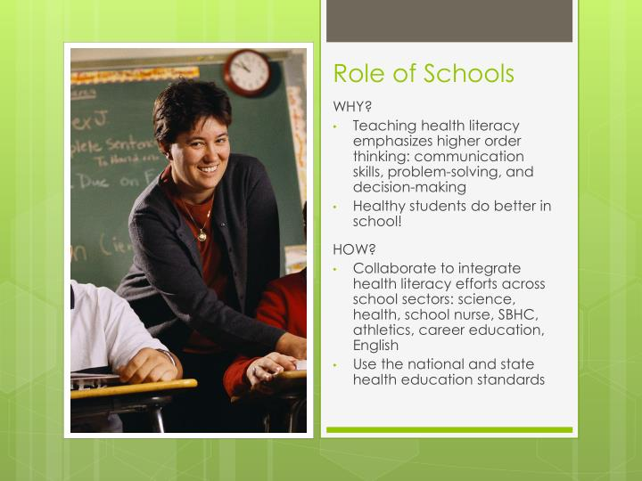Role of Schools
