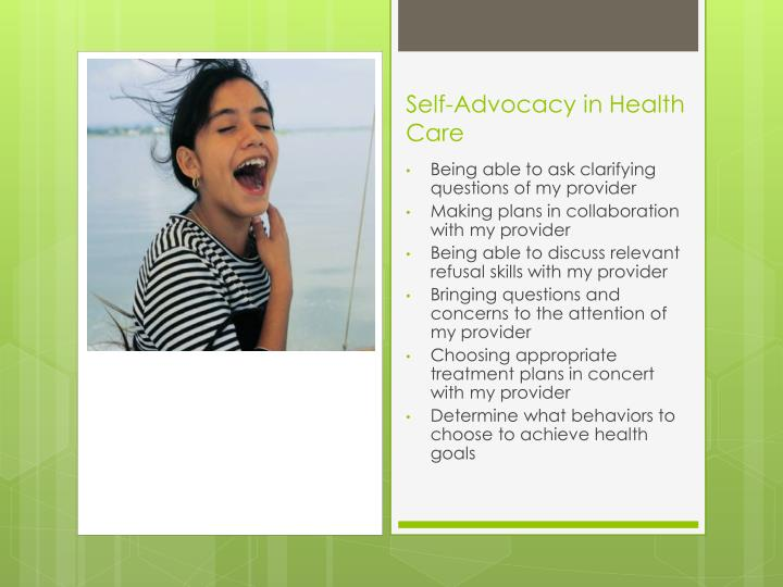 Self-Advocacy in Health Care