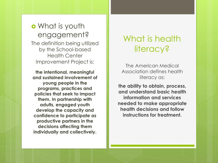 What is youth engagement?