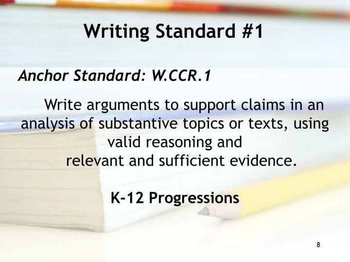 Writing Standard #1