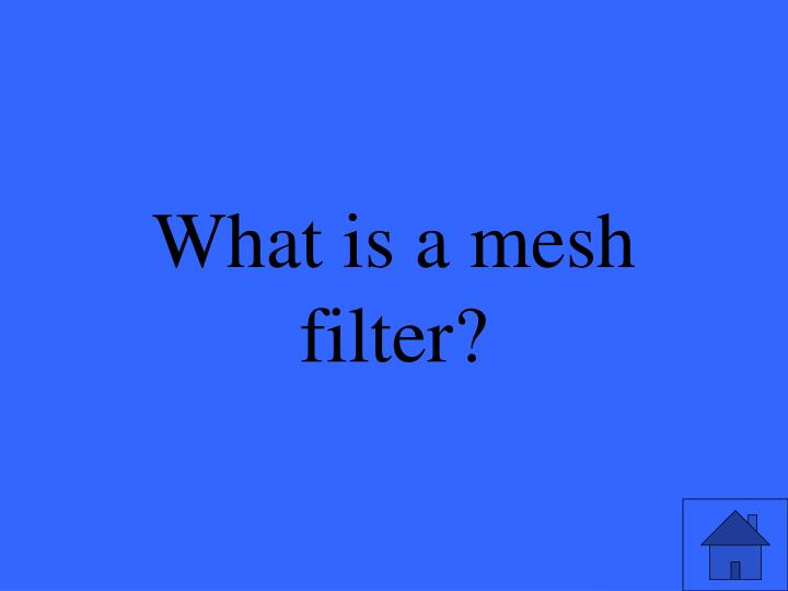What is a mesh filter?