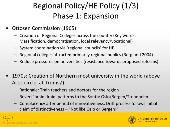 Regional Policy/HE Policy (1/3)