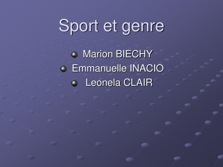 Sport et genre