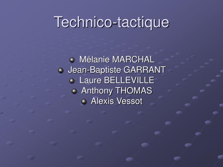 Technico-tactique
