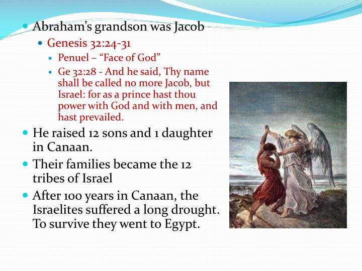 Abraham's grandson was Jacob