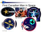 first canadian man in space