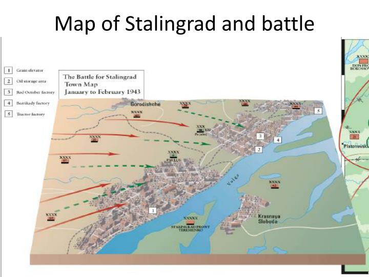Map of stalingrad and battle