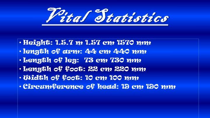 Vital Statistics