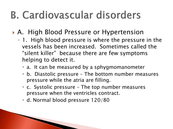 B. Cardiovascular disorders